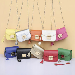 10 Colors High Quality Small Womens Bags Pu Leather Crossbody Bags For Women Messenger Bags Chain Fashion 2018 Female Bag Sac