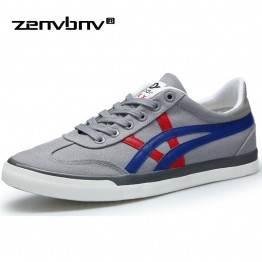 2018 New Arrive Style Men Casual Shoes Canvas Male Footwear Comfortable Flat Shoes Lace up Vulcanized Shoes Men Walking Sneakers