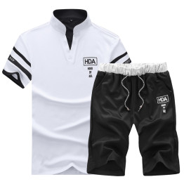 2018 Solid Men's Shorts 4XL Summer Mens Beach Shorts and top clothes set Casual Male Shorts homme Brand Clothing