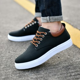 2018 Spring Summer Comfortable Casual Shoes Mens Canvas Shoes For Men Lace-Up Brand Fashion Flat Loafers Shoes Big Size:38-47