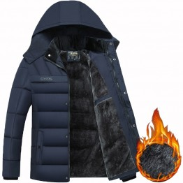 2019 Hot Fashion Hooded Winter Coat Men Thick Warm Mens Winter Jacket Windproof Father's Gift Parka