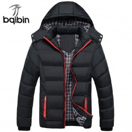 2019 New Men Winter Jacket Coats Quality Cotton Padded Hooded Wadded Thick Warm Outerwear Casual Male Parkas XL-4XL