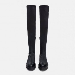 2019 Slim Stretch Lycra Knee High Boots Platform Winter Boots Women Long Boots Winter Shoes Women Sock Boots Over the Knee Boots