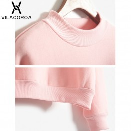 9 Colors Winter Grey Hoodie Round Neck Long Sleeve Velvet Warm Sweatshirts Women Korean Black Loose Hoodies Female Casual Coat