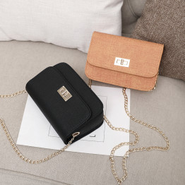 Free shipping, 2018 new trend women handbags, casual golden chain flap, fashion shoulder bag, simple woman messenger bag.
