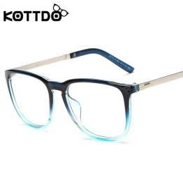 KOTTDO Fashion Big Frame Retro Eyeglasses Frame Women Men Vintage Glasses Frame Optical Glasses Frame Goggle Eye Glasses Oculos
