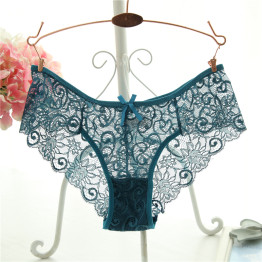 Plus Size S/XL Fashion High Quality Women's Panties Transparent Underwear Women Lace Soft Briefs Sexy Lingerie