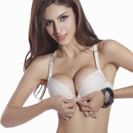 Sexy Seamless Bra Gather Adjustable Women Lingerie Super Push Up Bra Brassier Front Closure Cotton Bra