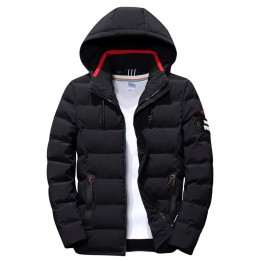 New Fashion Men Winter Jacket Coat Hooded Warm Mens Winter Coat Casual Slim Fit Student Male Overcoat ABZ82