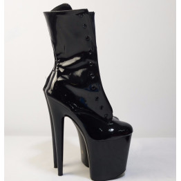 fashion sexy knight female 8 inch high heel platform ankle boots for women autumn winter shoes 15-20cm black pole dancing boots